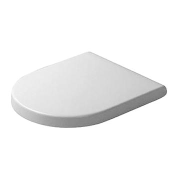 Duravit 0063890000 Starck 3 Elongated Toilet Seat and Cover - Alpine White