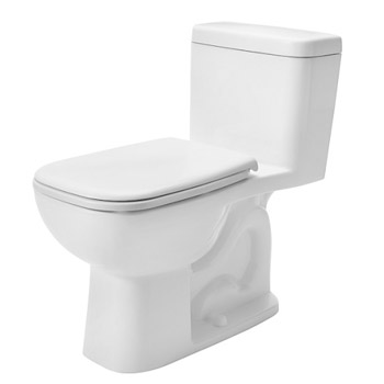 Duravit 0113010001 D-Code One Piece Toilet with Left Trip Lever - White