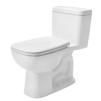 Duravit 0113010082 D-Code One Piece Toilet with Right Trip Lever - White