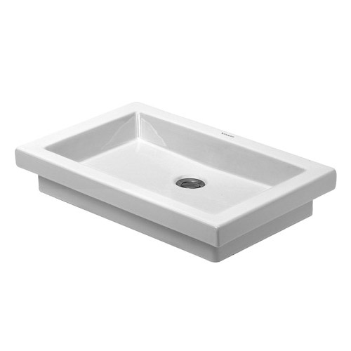 Duravit 03175800291 2nd Floor Countertop Vanity Basin - White/WonderGliss