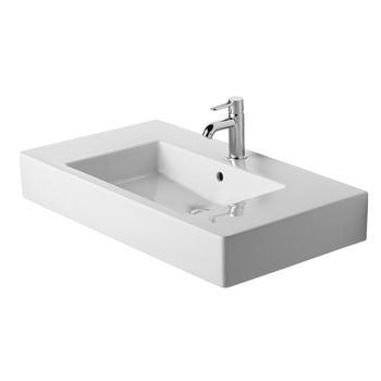 Duravit 03298500001 Vero Furniture Washbasin 33 1/2, 1 Hole Tapping - White