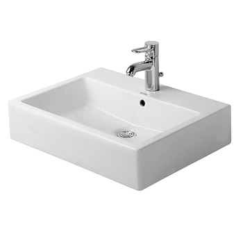Duravit 045250 Vero Above Counter Basin Grinded - White/WonderGliss