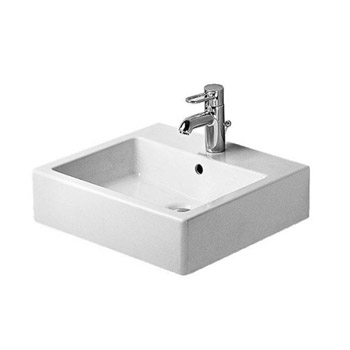 Duravit 4545000001 Vero Washbasin 19 5/8, 1 Hole Tapping - White/WonderGliss