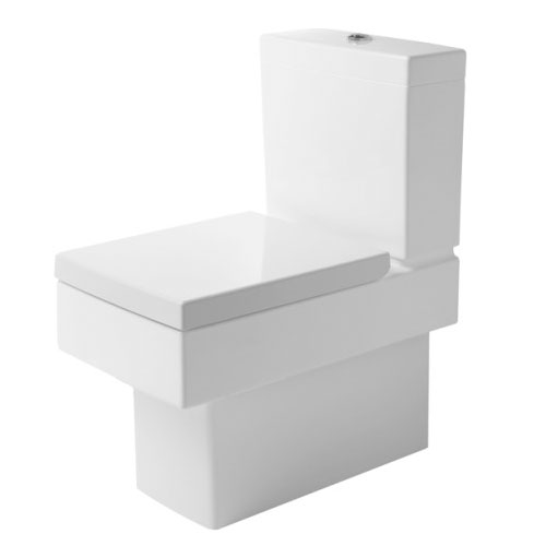 Duravit 21160900921 Vero Rectangular Toilet Bowl Only - White / Wondergliss