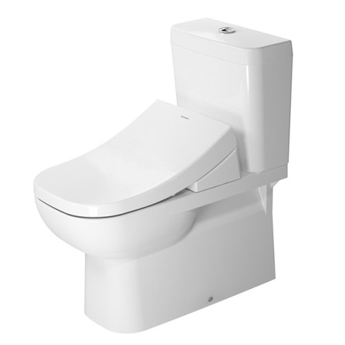 Duravit 21420900922 D-Code 14-1/8 x 27-3/8 Inch One Piece Toilet Bowl Only - White/WonderGliss