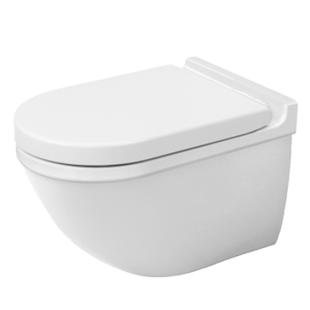 Duravit 222609.00.92 Starck 3 Wall Mounted Toilet Washdown - White