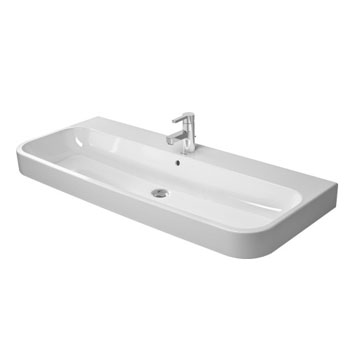 Duravit 2318120000 Happy D.2 Ceramic 47-1/4 in Washbasin - White