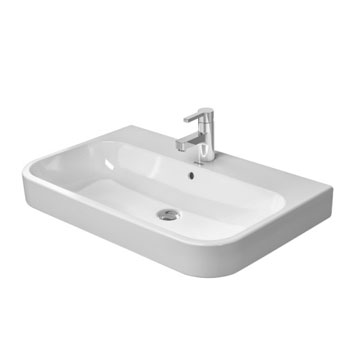 Duravit 2318800000 Happy D.2 Ceramic 31-1/2 in Washbasin with Single Faucet Hole - White