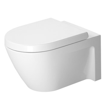 Duravit 2534090092 Starck 2 Toilet Wall Mounted Washdown Model - White