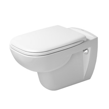 Duravit 25350900922 D-Code Washdown Wall Mounted Toilet - White