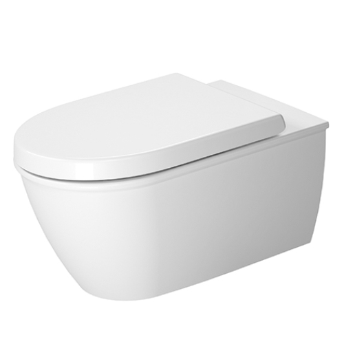 Duravit 25440900921 Darling New Toilet Wall Mounted Washdown Model with WonderGliss - White