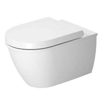 Duravit 2557090092 Darling New Toilet Wall Mounted Washdown Model Rimless - White