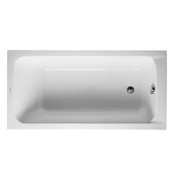 Duravit 700095000000090 D-Code 59x29 Acrylic Soaking Bathtub with Reversible Drain - White