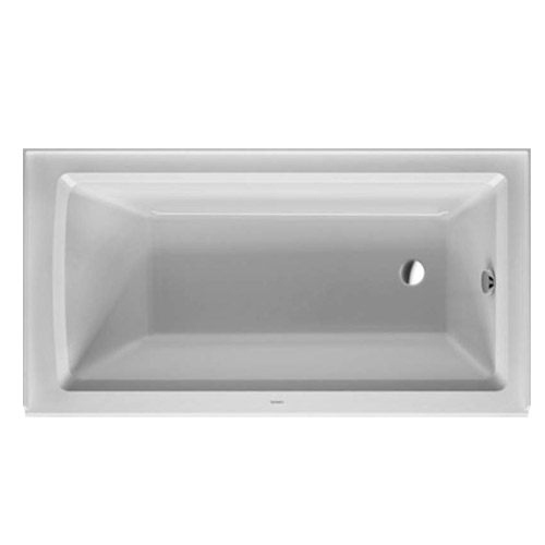 Duravit 700353000000090 Architec 60X32 Acrylic Soaking Bathtub with Right Drain, Integrated Panel - White