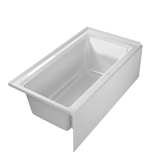 Duravit 700354000000090 Architec 60X32 Acrylic Soaking Bathtub with Left Drain, Integrated Panel - White