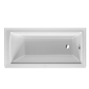 Duravit 700355000000090 Architec 60X30 Acrylic Soaking Bathtub with Right Drain, Integrated Panel - White