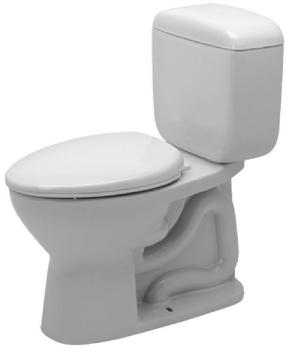 Duravit D1301800 Duraplus Elongated Toilet - White
