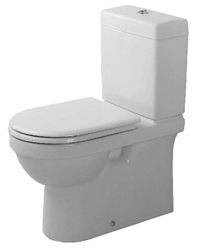 Duravit D14023 Happy D Two Piece Round Front Dual Flush Toilet - White
