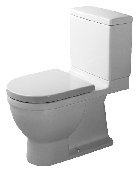 Duravit D19045-00 Starck 3 Two-Piece Toilet - White