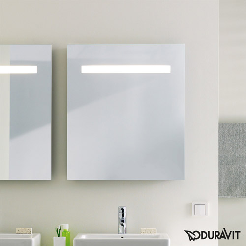 Duravit KT733000000 Ketho 25-5/8 x 29-1/2 Inch Mirror with Lighting