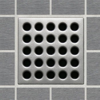 EBBE E4410 Decorative Shower Drain Cover - Satin Nickel