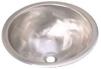 ELKAY SCF16SH Asana Specialty Collection Single Bowl Lavatory Sink - Stainless Steel Hammered Mirror Finish (Pictured w/Rugged Satin Texture Finish)