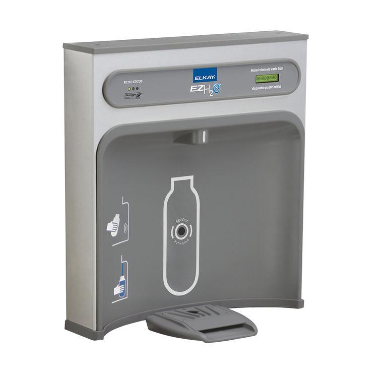 Elkay-LZWSR-EZH2O-Bottle-Filling-Station-with-Filter---Stainless-Steel