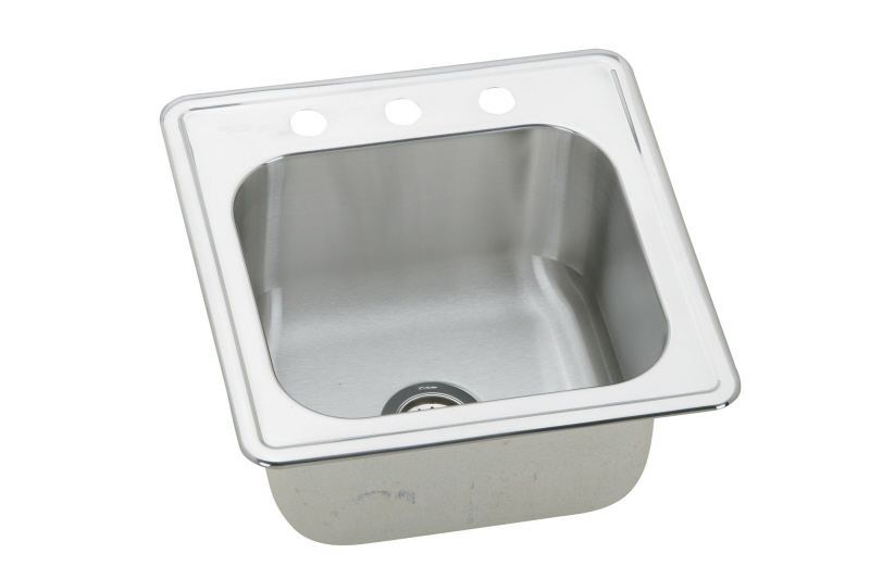 Elkay ESE202010 1 Gourmet Elite Single Bowl Drop In Stainless Steel Bar Sink    1