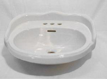 Elizabethan Classics ABP4SWH Aberdeen 4� Petite Basin Only - White
