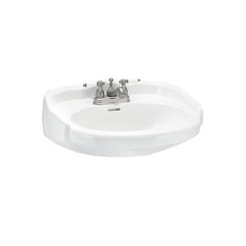 Elizabethan Classics ECABP8SWH Aberdeen Petite 8 In. Basin Only - White
