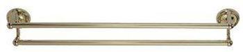 Elizabethan Classics ECDTBPB 24In Double Towel Bar - Polished Brass