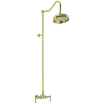 Elizabethan Classics ECES03PB Exposed Wall Mount Shower Faucet - Polished Brass