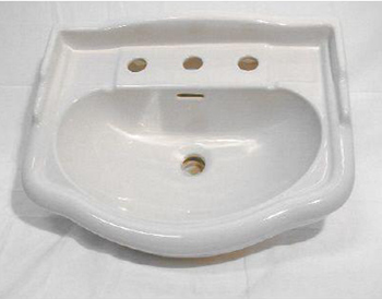Elizabethan Classics ECET8SWH English Turn 8 In. Basin - White