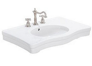 Elizabethan Classics ECETCLSWH English Turn Console Basin Only - White