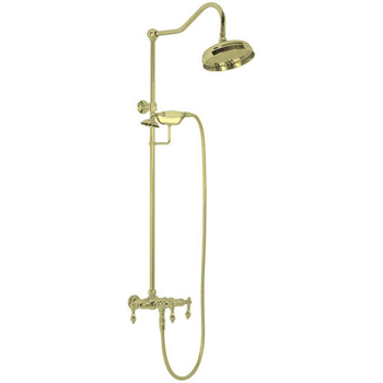 Elizabethan Classics ECETS12PB Exposed Wall Mount Shower Faucet (showerhead not included) - Polished Brass