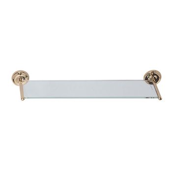 Elizabethan Classics ECGSSN Glass Vanity Shelf - Satin Nickel