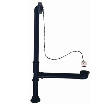 Elizabethan Classics LTDSN Leg Tub Drain - Satin Nickel (Pictured in Oil Rubbed Bronze)
