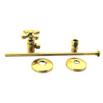 Elizabethan Classics NTLTS01PB Closet Angle Supply Kit - Polished Brass