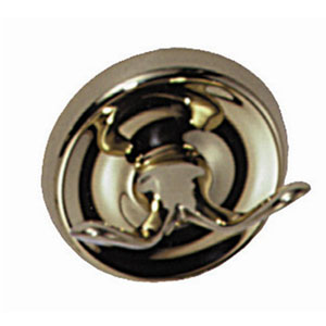 Elizabethan Classics RHCP Robe Hook - Chrome (Pictured in Polished Brass)