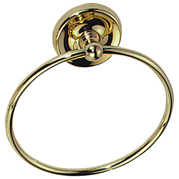Elizabethan Classics TRPB Towel Ring - Polished Brass