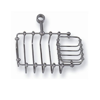 Elizabethan Classics TSD5CP Riser Mount Soap Basket - Chrome (Pictured in Satin Nickel)