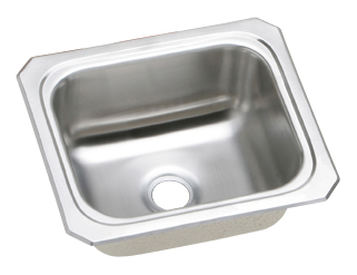 Elkay BCFR1315 Gourmet (Celebrity) Single Bowl Hospitality Sink with No Faucet Ledge - Stainless Steel