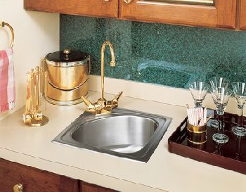 Elkay BLGR15151 Harmony (Lustertone) Hospitality Sink - Stainless Steel (Pictured with Faucet - Not Included)