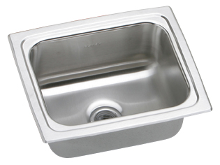 Elkay BPSFR1215 Gourmet (Pacemaker) Hospitality Sink with No Faucet Ledge - Stainless Steel
