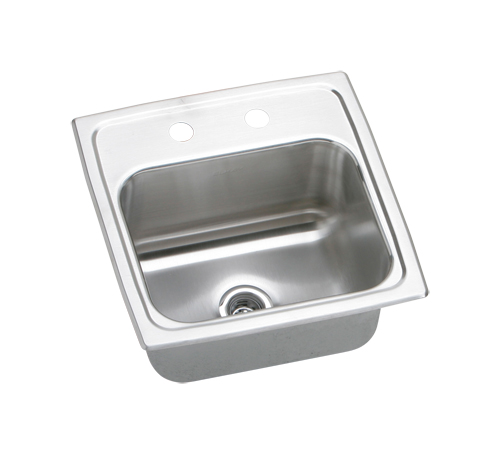 Elkay BPSR152 Pacemaker Hospitality Single Bowl Stainless Steel Sink (Pictured With Two Faucet Holes)