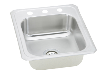 Elkay CR17213 Gourmet (Celebrity) Single Bowl Stainless Steel Sink - 3 Holes