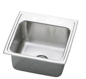 Elkay DLR1919103 Gourmet (Lustertone) Deep Single Bowl Stainless Steel Sink - 3 Holes