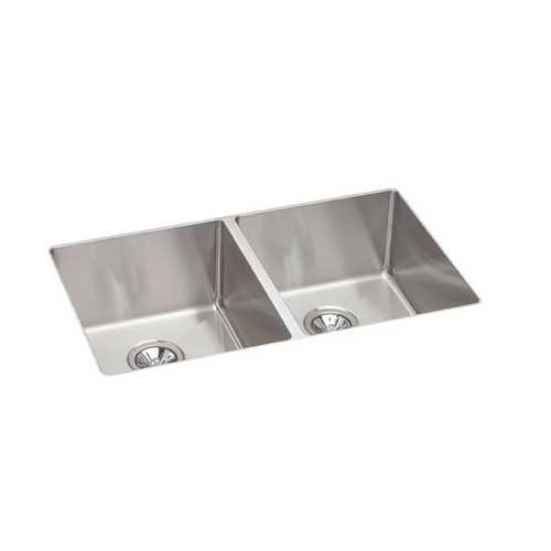 ECTRU31179 Elkay Crosstown Undermount Double Bowl Kitchen Sink - Stainless Steel