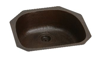 Elkay ECU2118ACH Harmony Undermount Single Bowl Kitchen Sink - Antique Hammered Copper Finish