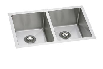 Elkay EFRU311810 Avado Deep Double Bowl Kitchen Sink - Stainless Steel